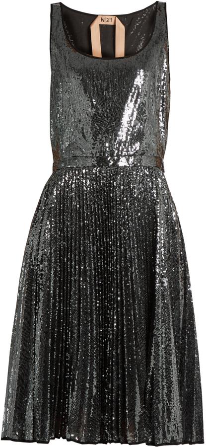 No 21  Sequin embellished-dress featured on Noir Friday Finds.
