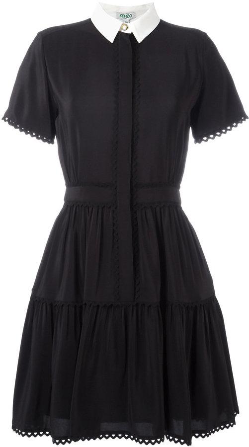 Kenzo shirt dress featured on Noir Friday Finds.
