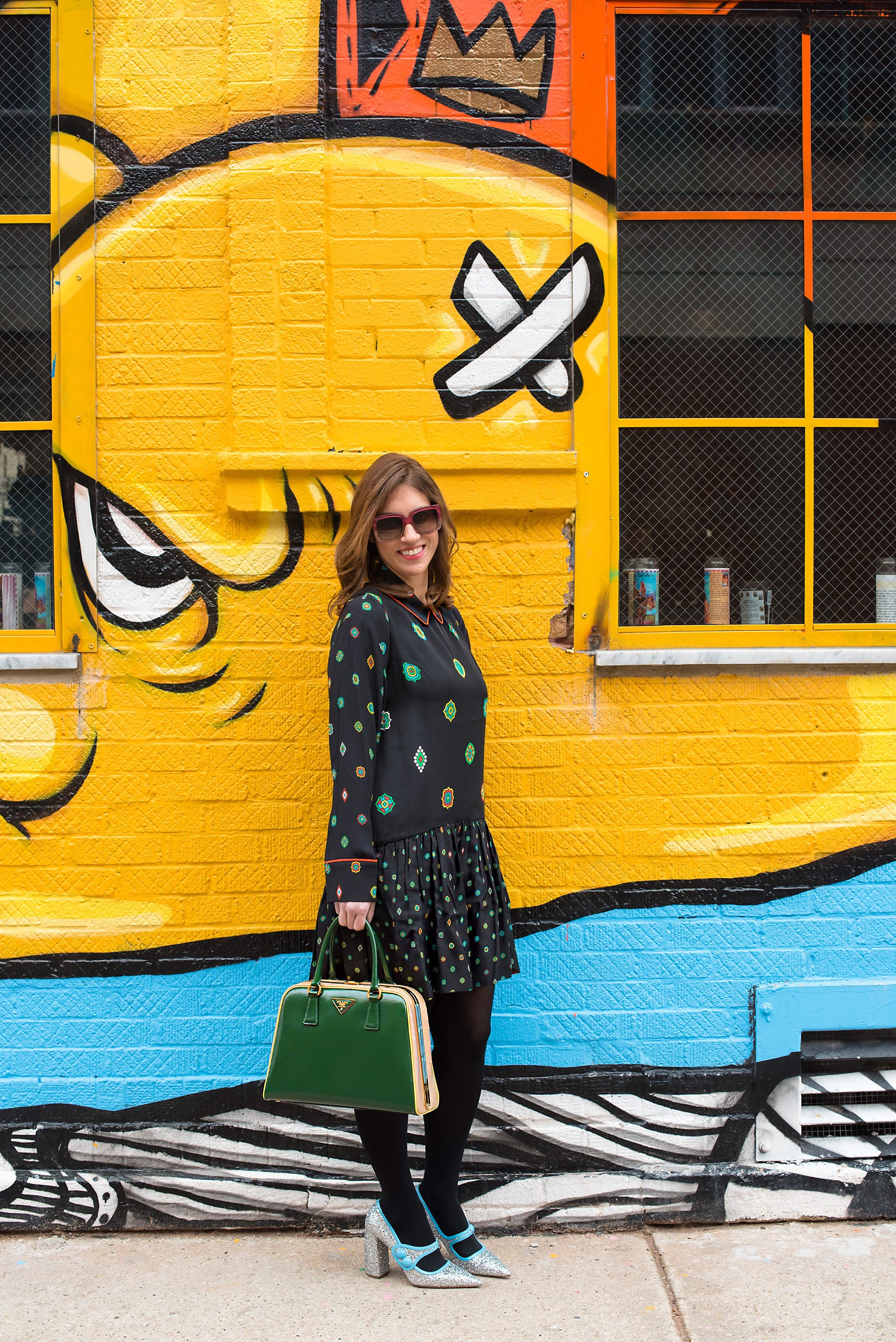 Anna Roufos Sosa of Noir Friday wearing Kenzo x HM.