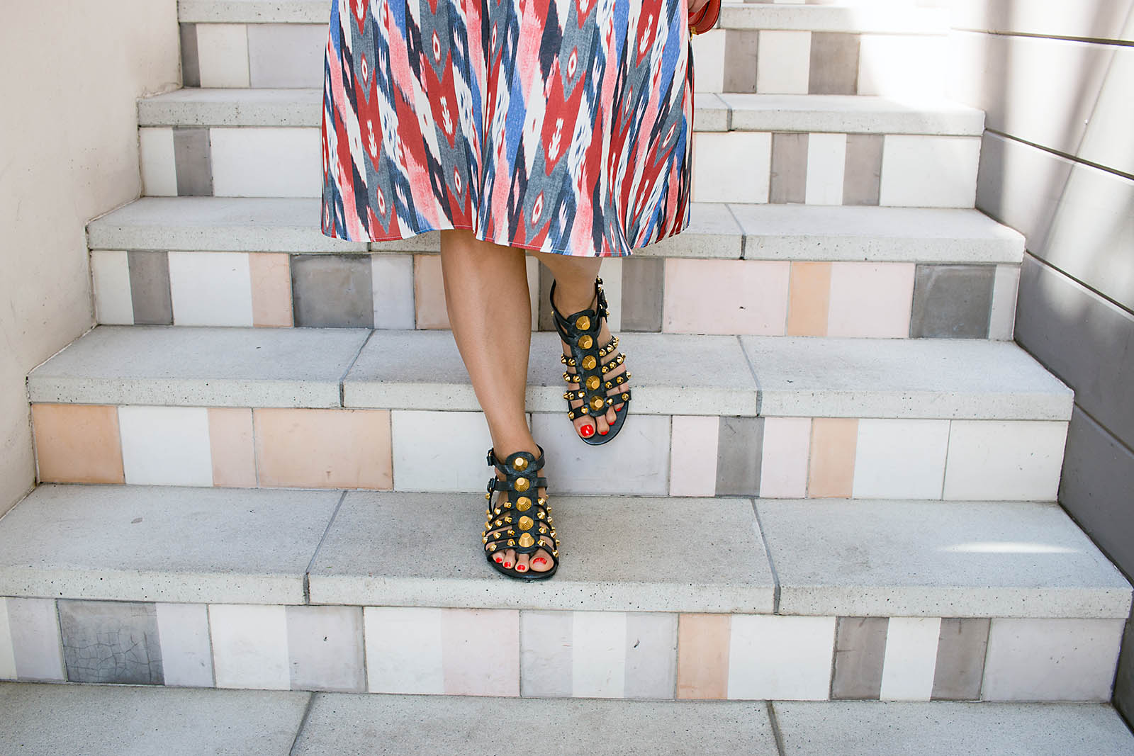 Anna Roufos Sosa of Noir Friday wearing Isabel Marant and Balenziaga sandals.