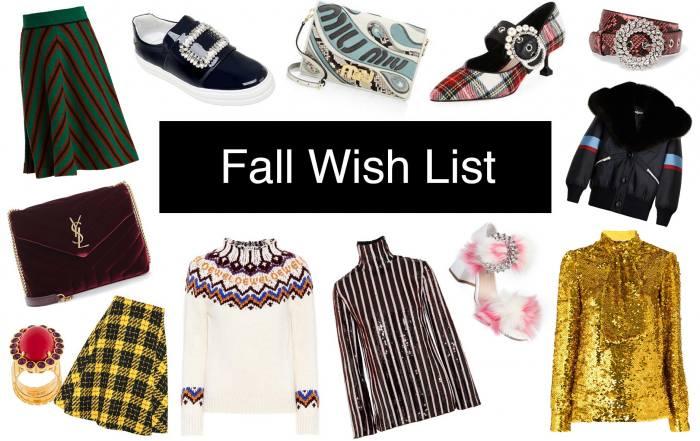 Anna Roufos Sosa of Noir Friday shares her fall wish list.