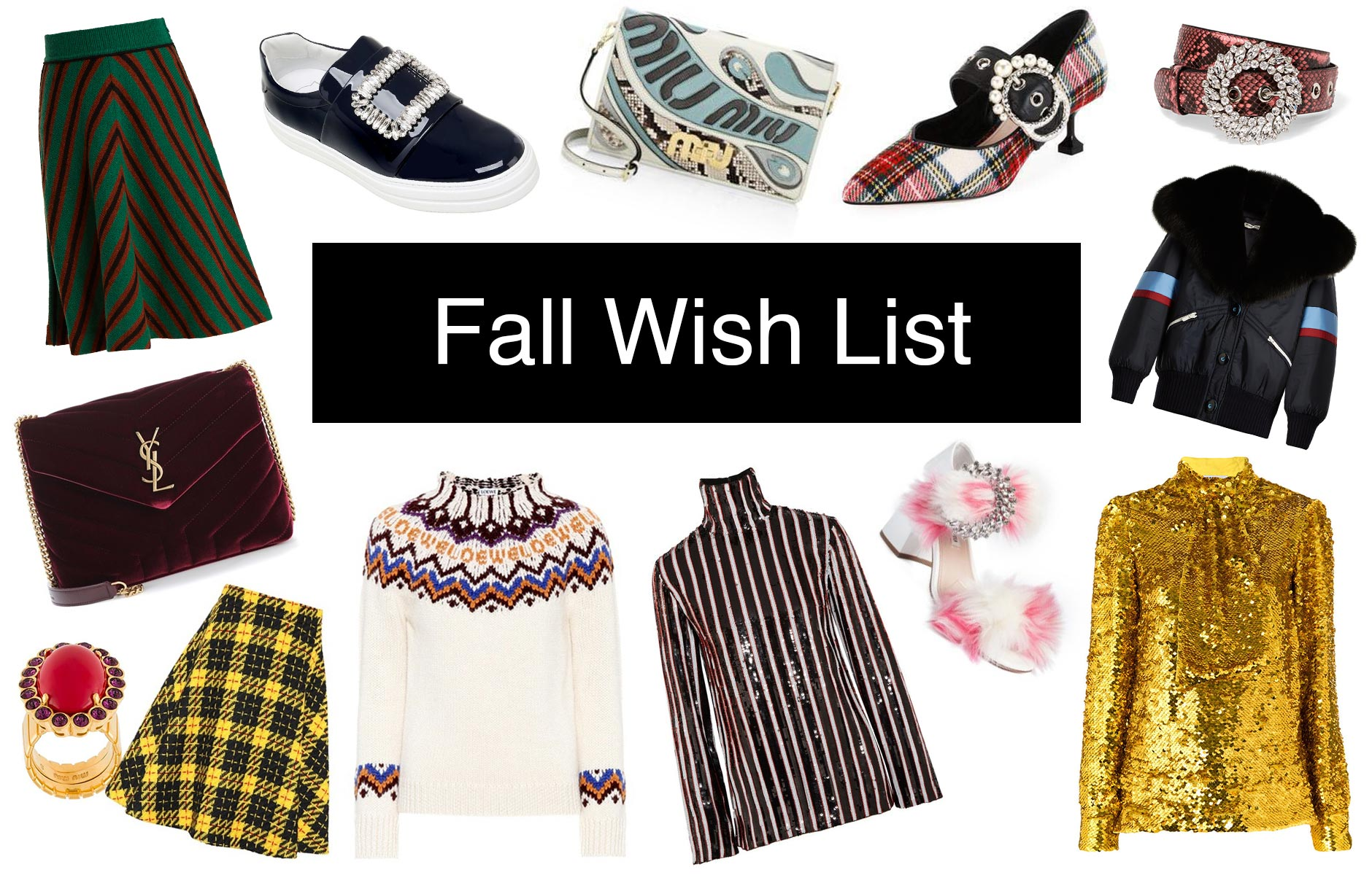 Anna Roufos Sosa of Noir Friday shares her fall wish list.