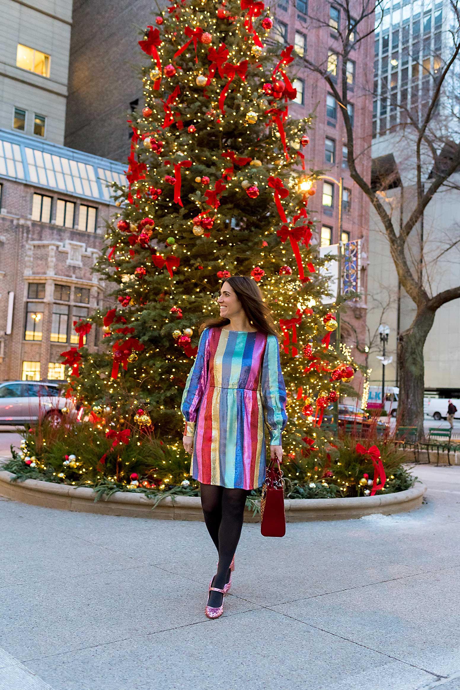 Anna Roufos Sosa of Noir Friday in a Rixo dress.